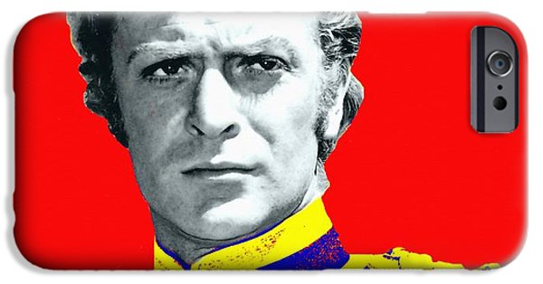 Michael Mixed Media iPhone Cases - Michael Caine in Zulu iPhone Case by Art Cinema Gallery
