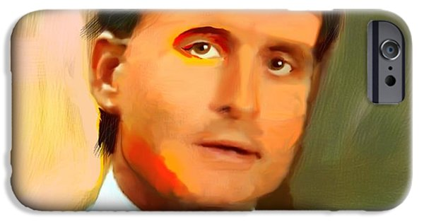 Michael Mixed Media iPhone Cases - Michael Douglas as Gordon Gekko iPhone Case by Carl Mellick