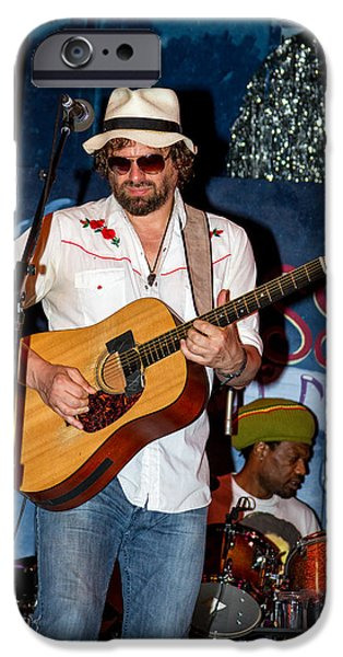 Michael iPhone Cases - Michael Glabicki of Rusted Root iPhone Case by Bill Gallagher