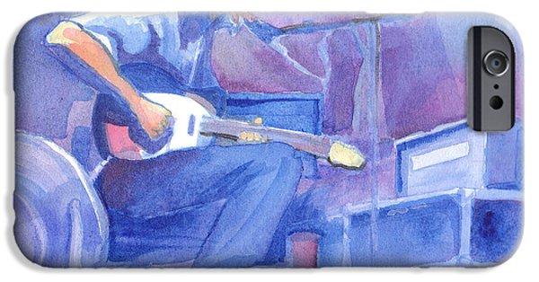 Michael Paintings iPhone Cases - Michael Houser from Widespread Panic iPhone Case by David Sockrider