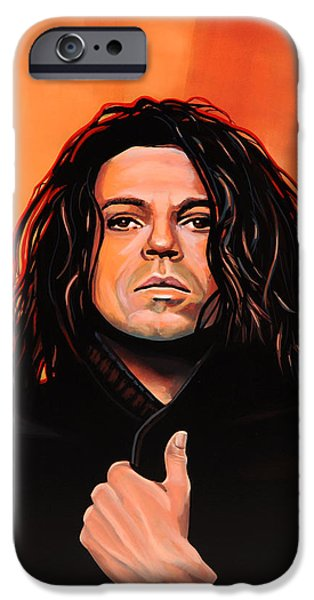 Michael Hutchence iPhone Case by Paul  Meijering