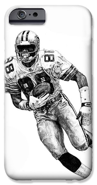 Irvin iPhone Cases - Michael Irvin iPhone Case by Joshua Sooter