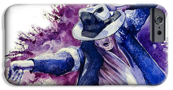 Moon Walk iPhone Cases - Michael Jackson 10 iPhone Case by MB Art factory