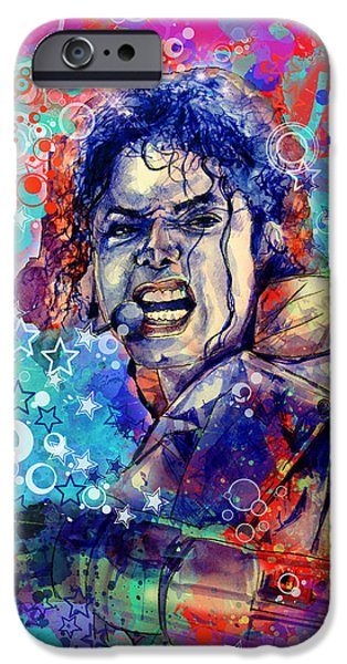 Jackson 5 iPhone Cases - Michael Jackson 11 iPhone Case by MB Art factory