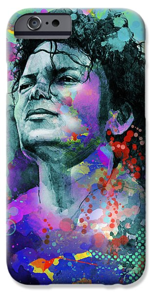 Billie Jean iPhone Cases - Michael Jackson 12 iPhone Case by MB Art factory