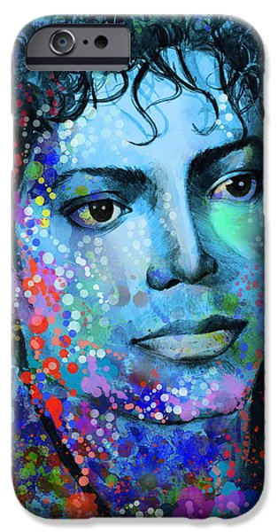 Billie Jean iPhone Cases - Michael Jackson 14 iPhone Case by MB Art factory