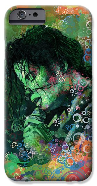Billie Jean iPhone Cases - Michael Jackson 15 iPhone Case by MB Art factory