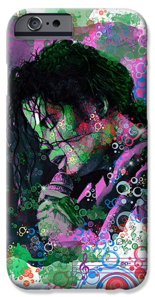 Billie Jean iPhone Cases - Michael Jackson 16 iPhone Case by MB Art factory