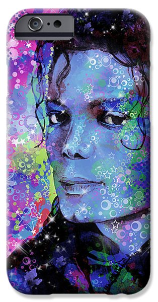 Billie Jean iPhone Cases - Michael Jackson 17 iPhone Case by MB Art factory