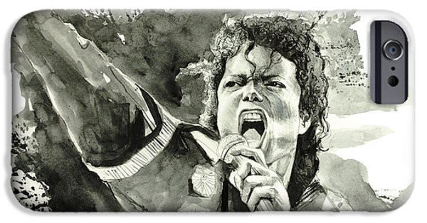 Michael Drawings iPhone Cases - Michael Jackson 2 iPhone Case by MB Art factory