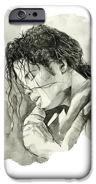 Billie Jean iPhone Cases - Michael Jackson 3 iPhone Case by MB Art factory