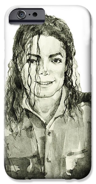 Billie Jean iPhone Cases - Michael Jackson 4 iPhone Case by MB Art factory