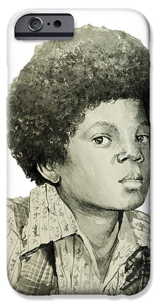 White Glove iPhone Cases - Michael Jackson 5 iPhone Case by MB Art factory