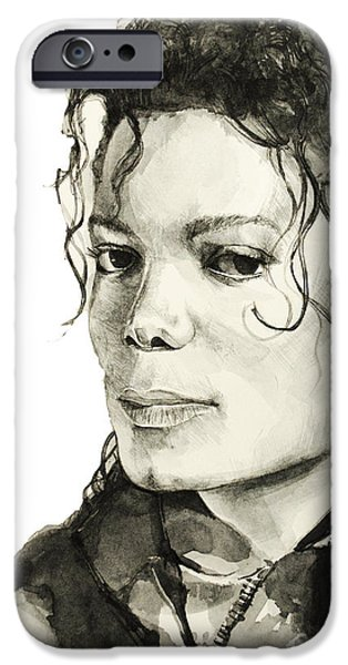 Moon Walk iPhone Cases - Michael Jackson 6 iPhone Case by MB Art factory