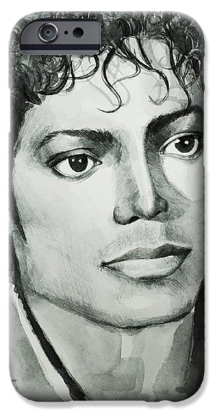 Billie Jean iPhone Cases - Michael Jackson 7 iPhone Case by MB Art factory