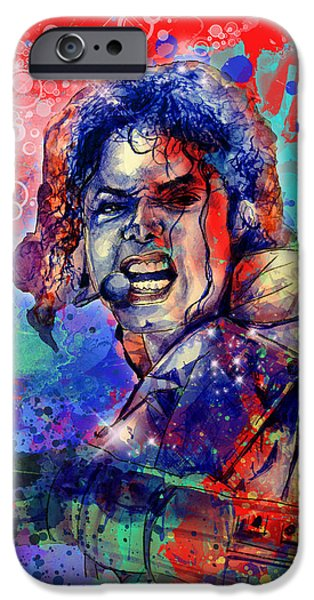 Billie Jean iPhone Cases - Michael Jackson 8 iPhone Case by MB Art factory