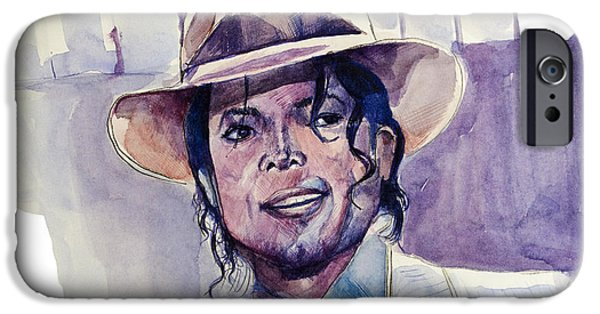 Billie Jean iPhone Cases - Michael Jackson 9 iPhone Case by MB Art factory
