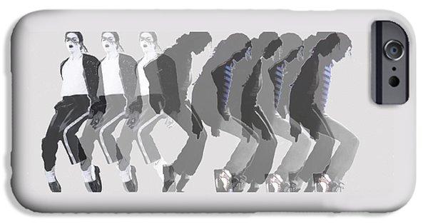 Michael iPhone Cases - Michael Jackson a la Warhol by Dominique Amendola iPhone Case by Dominique Amendola
