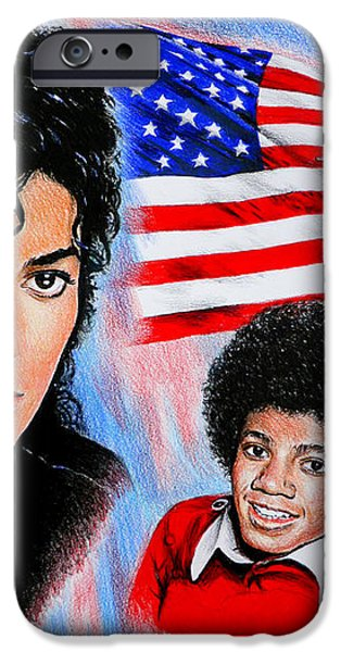 Michael Jackson American Legend iPhone Case by Andrew Read