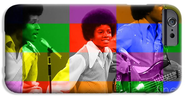 Michael Mixed Media iPhone Cases - Michael Jackson and the Jackson 5 iPhone Case by Marvin Blaine