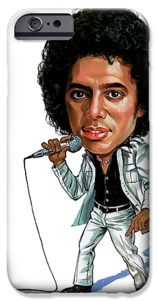 King Of Pop iPhone Cases - Michael Jackson iPhone Case by Art
