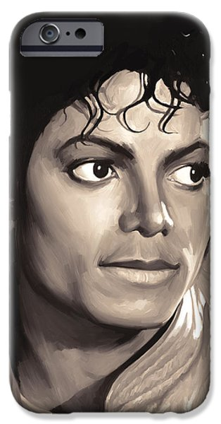 Michael Mixed Media iPhone Cases - Michael Jackson Artwork 1 iPhone Case by Sheraz A