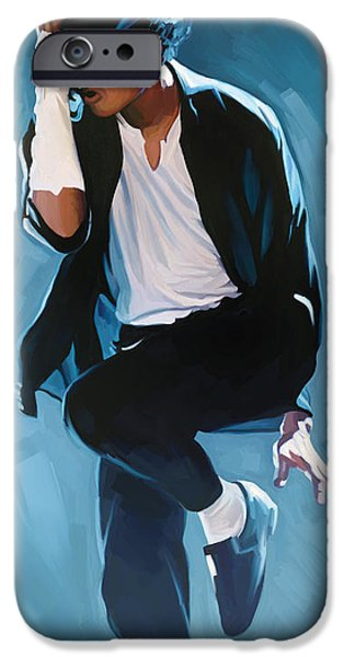 Michael Mixed Media iPhone Cases - Michael Jackson Artwork 3 iPhone Case by Sheraz A