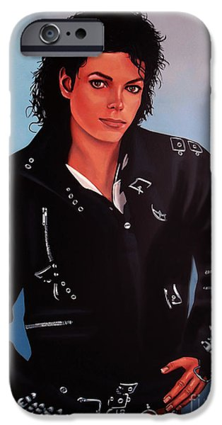 King iPhone Cases - Michael Jackson Bad iPhone Case by Paul  Meijering