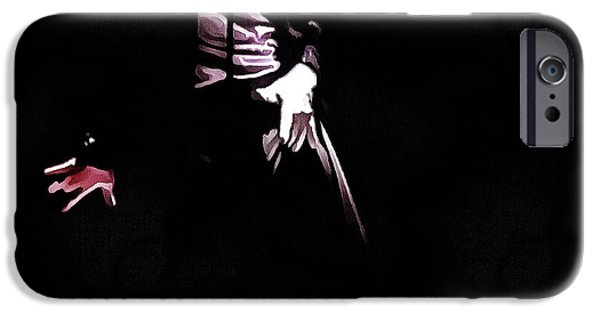 Michael iPhone Cases - Michael Jackson Billie Jean 2 iPhone Case by Yury Malkov