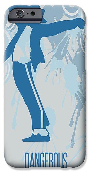 King Of Pop. Dancer iPhone Cases - Michael Jackson Dangerous Poster iPhone Case by Florian Rodarte
