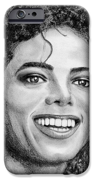 Celebrities Art iPhone Cases - Michael Jackson in 1988 iPhone Case by J McCombie