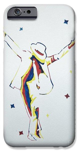Michael Jackson iPhone Case by Juan Molina