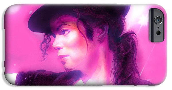 Michael Mixed Media iPhone Cases - Michael Jackson King of pop iPhone Case by Gina Dsgn