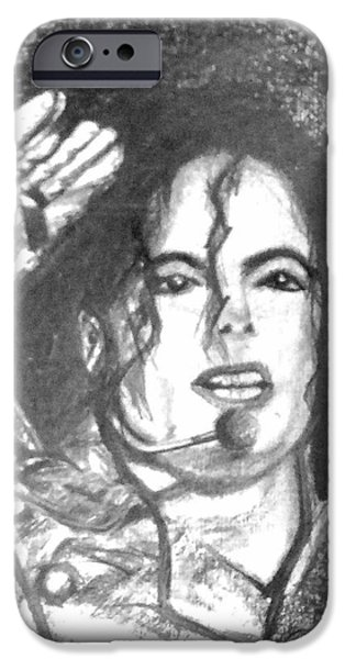 King Of Pop. Dancer iPhone Cases - Michael Jackson iPhone Case by Marcello Cicchini