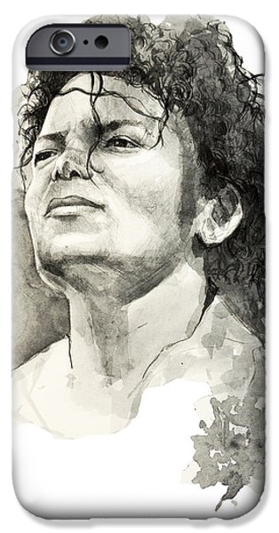 Michael Drawings iPhone Cases - Michael Jackson iPhone Case by MB Art factory