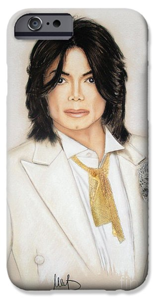 Michael Mixed Media iPhone Cases - Michael Jackson iPhone Case by Melanie D