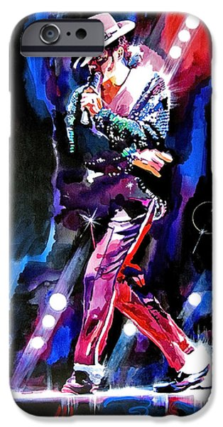 King Of Pop iPhone Cases - Michael Jackson Moves iPhone Case by David Lloyd Glover