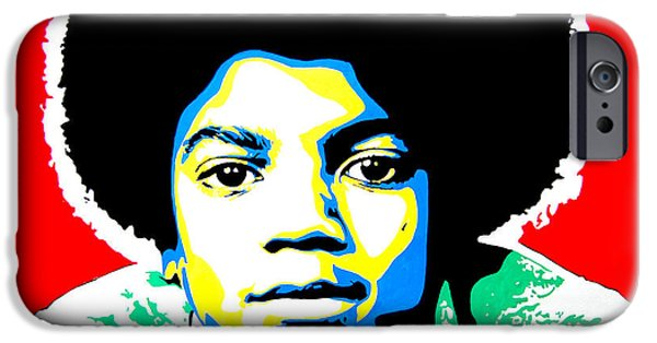 Jackson 5 iPhone Cases - Michael Jackson iPhone Case by Nancy Mergybrower