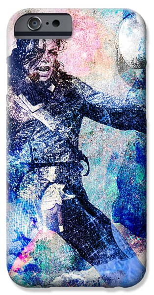 Michael Jackson Original Painting  iPhone Case by Ryan RockChromatic