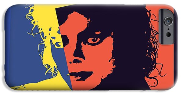 Billie Jean iPhone Cases - Michael Jackson Pop Art iPhone Case by Dan Sproul