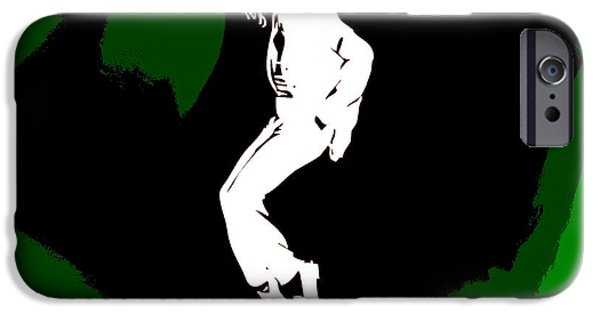 Mj Digital Art iPhone Cases - Michael Jackson Poster iPhone Case by Dan Sproul