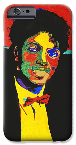 Jackson 5 iPhone Cases - Michael Jackson iPhone Case by Stormm Bradshaw