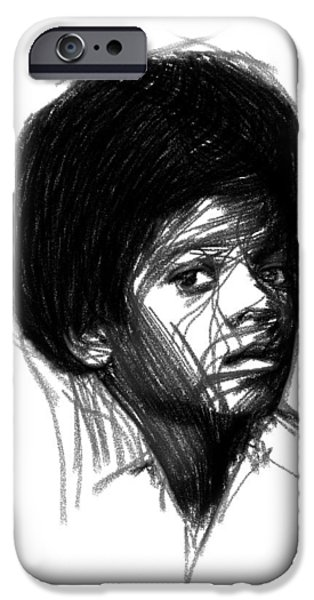 Michael Drawings iPhone Cases - Michael Jackson- The early Years iPhone Case by Stefan Kuhn