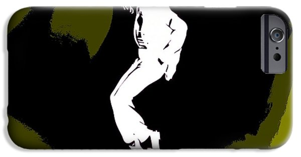 Mj Digital Art iPhone Cases - Michael Jackson Yellow Poster iPhone Case by Dan Sproul