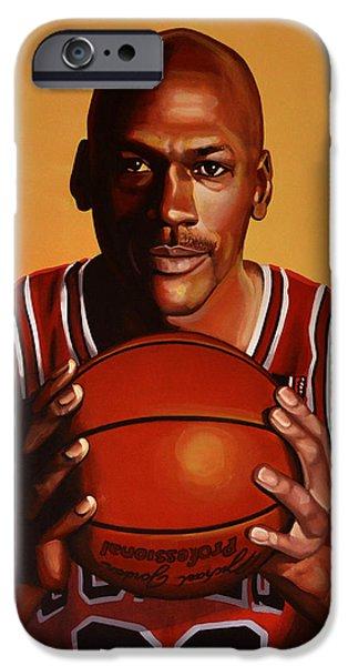 Michael Jordan 2 iPhone Case by Paul Meijering