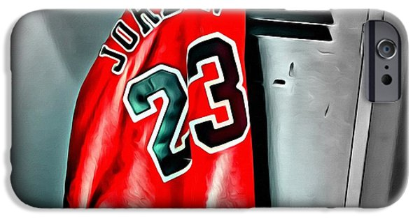 Jordan iPhone Cases - Michael Jordan 23 Shirt iPhone Case by Florian Rodarte