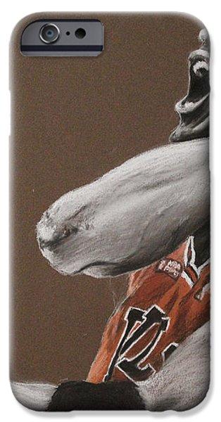 Michael Jordan - Chicago Bulls iPhone Case by Prashant Shah