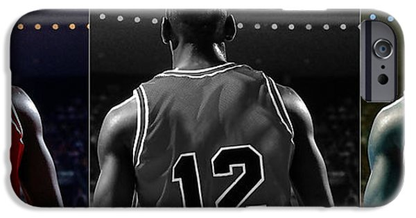 Jordan Mixed Media iPhone Cases - Michael Jordan iPhone Case by Marvin Blaine