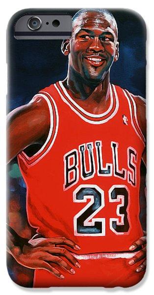 Jordan iPhone Cases - Michael Jordan iPhone Case by Paul Meijering
