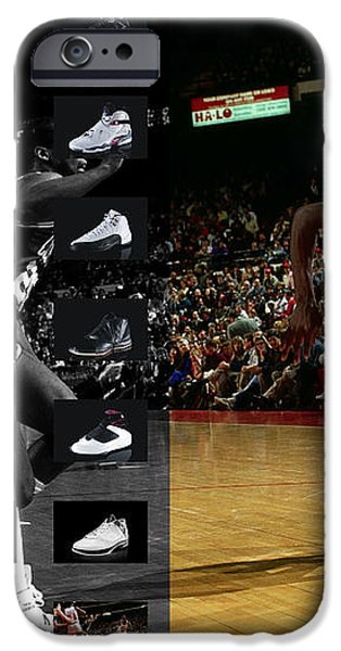 MICHAEL JORDAN SHOES iPhone Case by Joe Hamilton